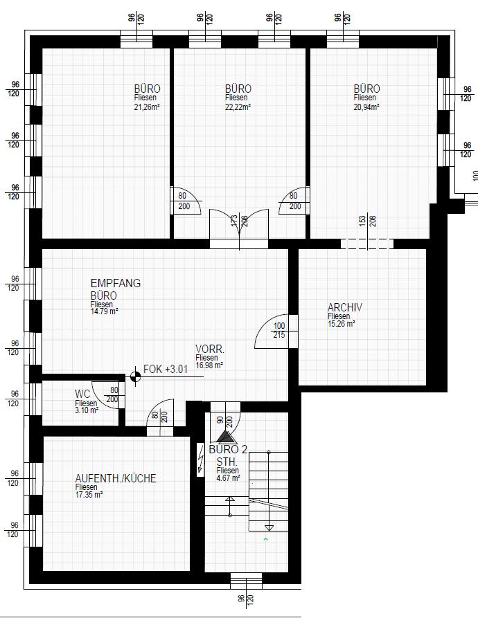 Grundriss Büro 2